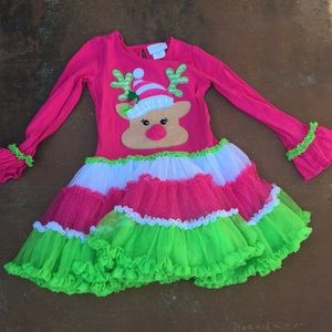 Girls reindeer dress and leggings